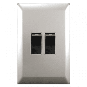 satin silver wall switch