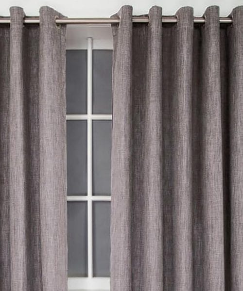 SELF LINED CURTAIN EYELET - PLATINUM
